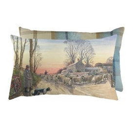 Red Sky At Night Tweed Cushion