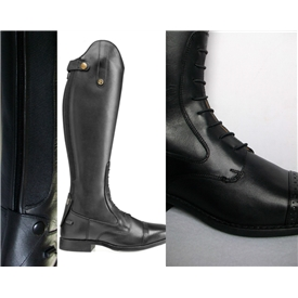 Brogini Capitoli Laced Long Leather Riding Boots