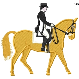 Dressage Horse and Rider 149