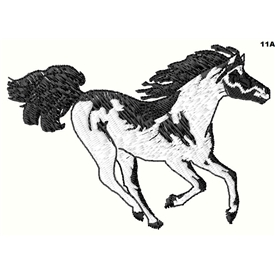 Coloured Galloping Pony 11a