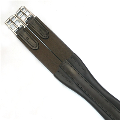 English Leather Elasticated Atherstone Girth