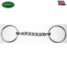 Abbey Riding Bitz Loose Ring Curb Chain Snaffle