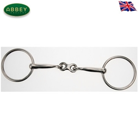 Abbey Riding Bitz French Link Loose Ring Weymouth Bradoon