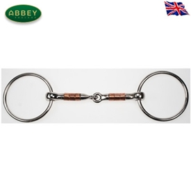 Abbey Riding Bitz Loose Ring Copper Roller Snaffle