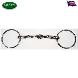 Abbey Riding Bitz Twisted Irish Loose Ring Snaffle