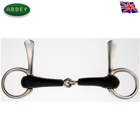 Abbey Riding Bitz Vulcanite Jointed Half Spoon