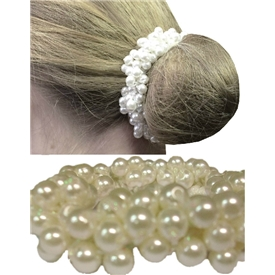 Equetech Cream Pearl Beaded Scrunchie