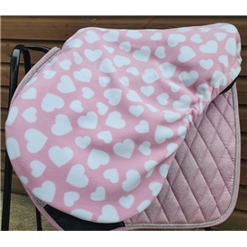 Fleece Hearts Saddle Cover