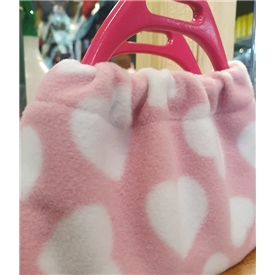 Fleece Hearts Stirrup Covers