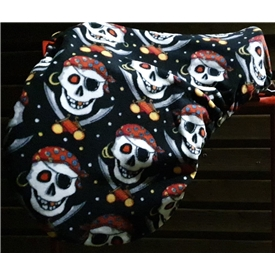 Halloween Pirate Fleece Saddle Cover