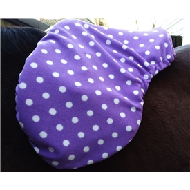 Purple Dot Saddle Cover