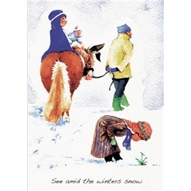 See amid the winters snow christmas cards
