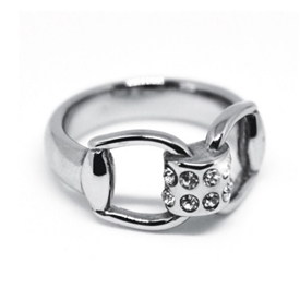 Snaffle Diamante Ring