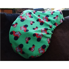 Tractor Themed Fleece Saddle Cover