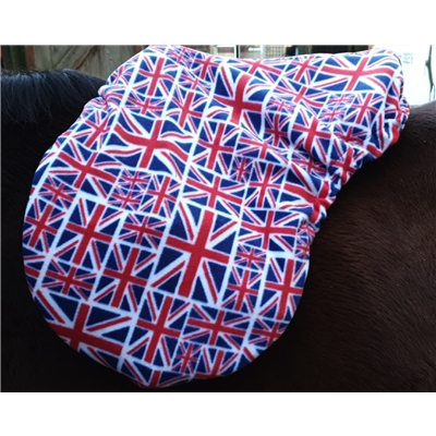 Union Jack Fleece Saddle Cover