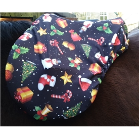 Christmas Saddle Cover